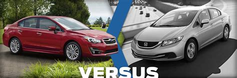 2015 Subaru Impreza Vs 2015 Honda Civic Model Comparison
