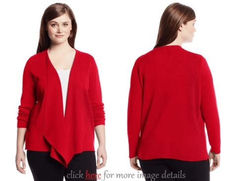 Red Cardigan Sweater Plus Size