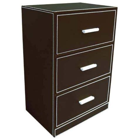 meuble de rangement 3 tiroirs en simili cuir