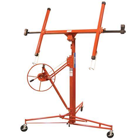 appareil de levage pour panneaux de gypse 4 pi x 16 pi chariots chevalets diables canac
