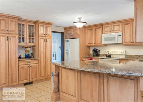 Tewksbury kitchen remodel with Maple cabinets  walnut glaze