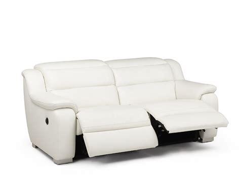 canap 233 2 places relax 233 lectrique cuir arena blanc canap 233 pas cher vente unique ventes pas