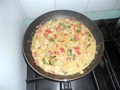 recette de poulet au curry pate de curry vert