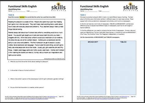 Functional Skills Maths And English Worksheets Numeracy