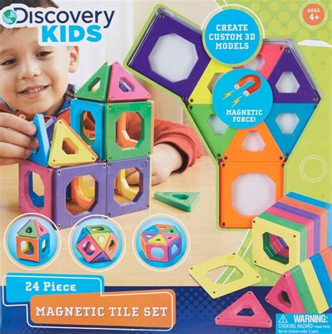 free discovery magnetic building tiles one size