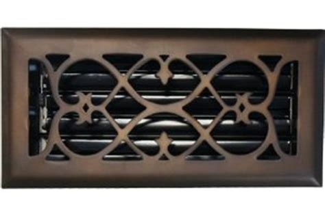 6 quot x 14 quot rubbed bronze plated floor register
