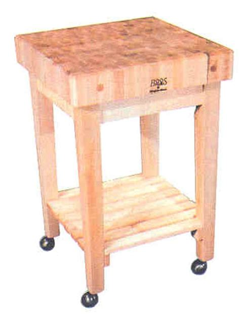John Boos Gourmet Butcher Block Cart With Casters On Sale