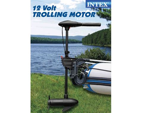 Intex Trolling Motor For Intex Inflatable Boats 36 Shaft by Intex 40 Lbs Thrust Trolling Motor With Extendable Handle