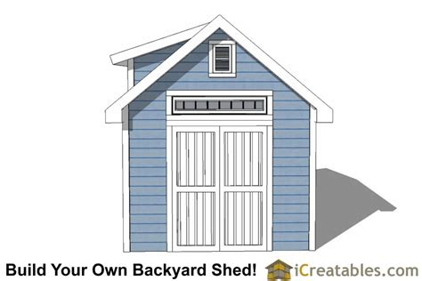 10x12 storage shed plans 10x12 shed plans with dormer icreatables