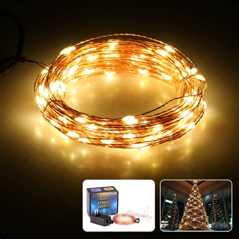 excelvan 10m 100 led copper string lights warm white decorative indoor us