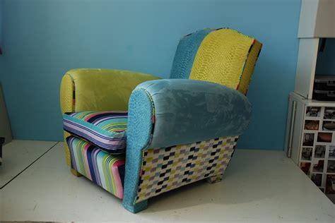 fauteuil club enti 232 rement refait multitissus meubles et rangements par la puce