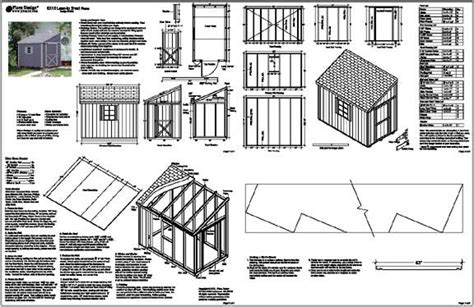 bobbs brick lean to shed plans