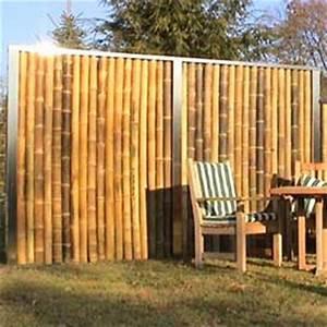 Bambus Edelstahl Sichtschutz : va edelstahl bambuszaun als stabiler sicherheitszaun ~ Markanthonyermac.com Haus und Dekorationen