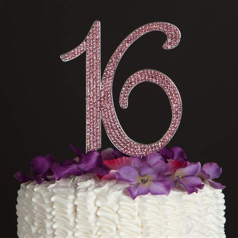 sweet 16 cake toppers pink sweet sixteen 16 birthday number cake topper