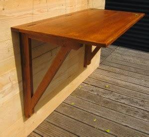 table de bar fixee au mur