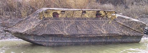 Camo Blow Up Boat by Quick Flip Blind