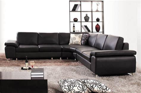 canap 233 d angle en cuir luxe italien 6 places biarritz noir mobilier priv 233
