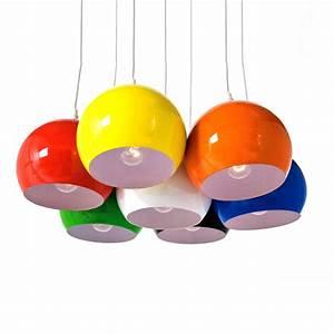 Philips Lampe Bunt : design h ngeleuchte 7 kugeln lampe calotta bunt h ngelampe pendel leuchte ebay ~ Markanthonyermac.com Haus und Dekorationen