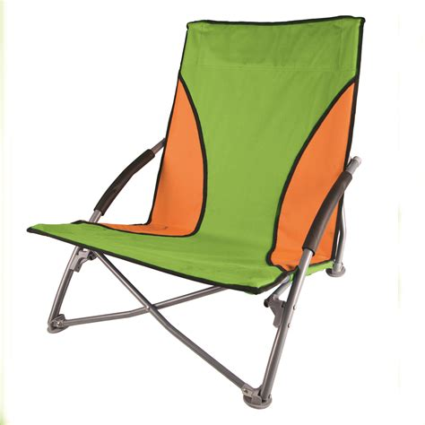 stansport low profile fold up chair lime and orange