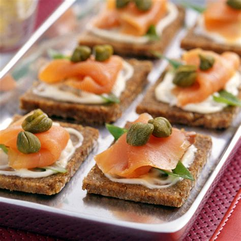 smoked salmon canapes recipe weight watchers fish small plates dinners and
