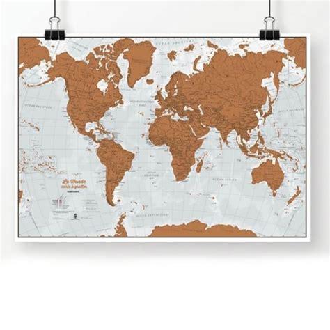 carte du monde 224 gratter en fran 231 ais cadeau maestro