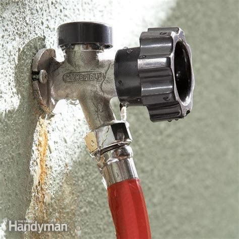 fix outside water faucet