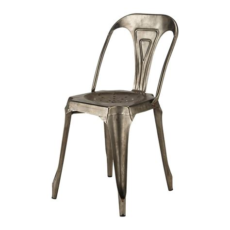 chaise indus en m 233 tal grise multipl s maisons du monde
