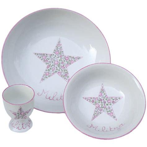 ensemble vaisselle b 233 b 233 personnalis 233 3 pi 232 ces etoile liberty vaisselle en porcelaine bebe