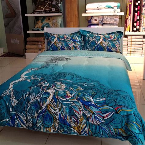 total fab peacock themed peacock colored comforter and