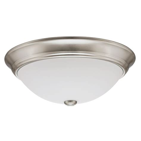 lithonia lighting brushed nickel linear saturn led flushmount fmfl 30840 satl bn the home depot
