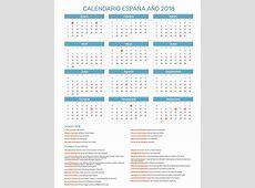 Calendario España Año 2018 Feriados