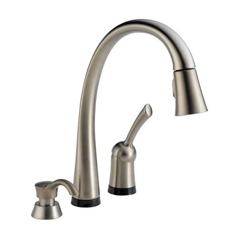 Delta Touch Kitchen Faucet Home Depot by Delta 980t Sssd Dst Pilar Single Handle Pull Kitchen