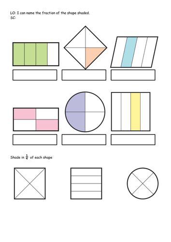 Ks1 Bundle Year 1  2  Fraction Of Shape, Shape Hunt Worksheets  Differentiated By Acrosbie