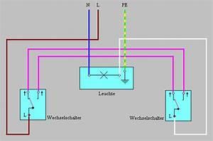 Lampe Mit Bewegungsmelder Und Schalter : schaltungen bei der elektroinstallation anschlussbeispiele ~ Markanthonyermac.com Haus und Dekorationen