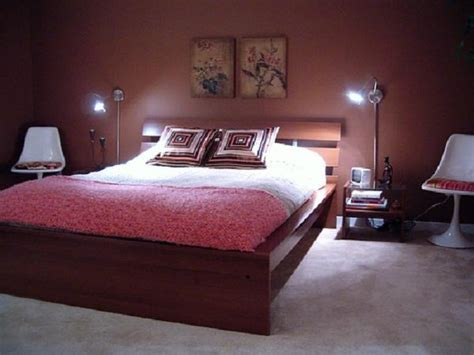 Lovely Wooden Master Bed Frames Added Reading Lamps Beside
