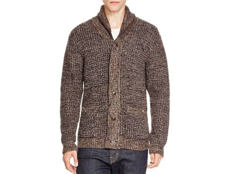 Brown Knit Cardigan Sweater