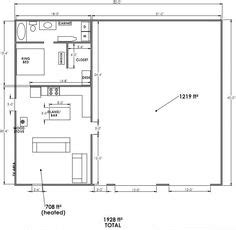 Metal Shop With Living Quarters Floor Plans by Pole Barn With Living Quarters Plans Sds Plans Complete