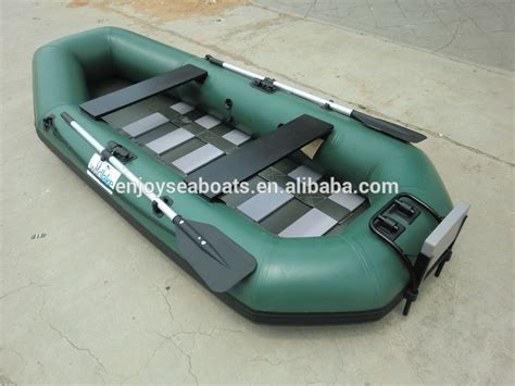 Inflatable Boat With Rigid Floor by Fishing Boat With Air Mat Floor Inflatable Pontoon Boat