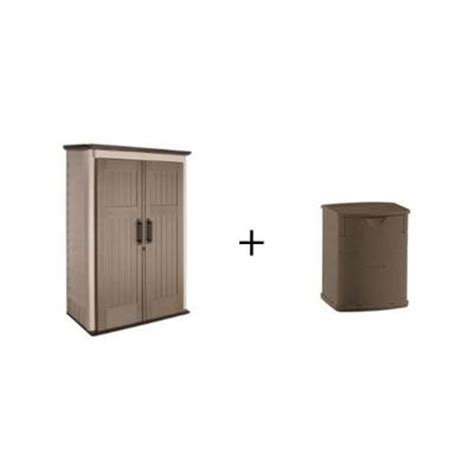 rubbermaid 3 ft x 4 ft large vertical storage shed with