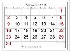 Calendários setembro de 2018 DS Michel Zbinden pt