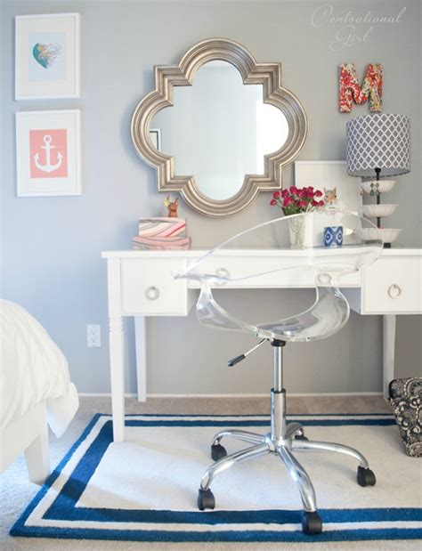 Vanity And Work Desk Combo by Navy Coral Bedroom Centsational