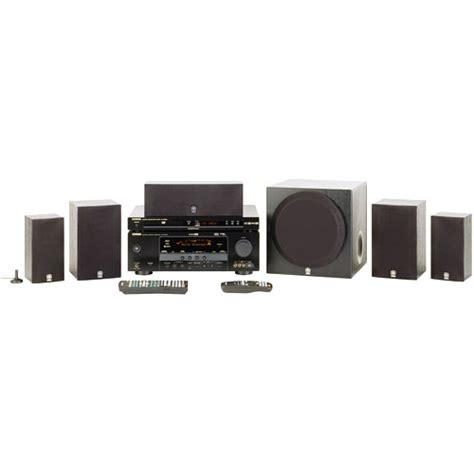 5 1 home theater system yamaha yht 680bl 5 1 channel home theater system yht 680bl b h