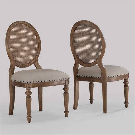 elements weathered oak back dining chairs set of 2