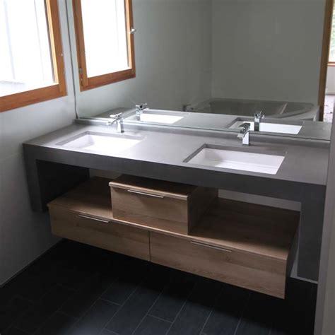 indogate salle de bain beton cire et bois