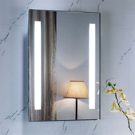 Lighted Bathroom Mirrors Wall by 700 X 500 Backlit Bathroom Mirror Wall Mounted Demister