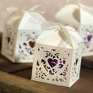 25ct Square Die-Cut Wedding Favor Boxes : Target
