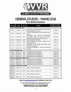 Gs main test series schedule 2014 and syllabus for ias ...