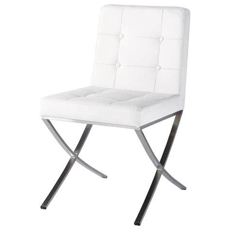 chaise en polyur 233 thane et inox blanche kyoto maisons du monde