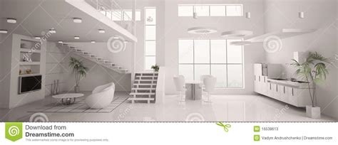 le panorama int 233 rieur moderne blanc 3d rendent photos stock image 16538613