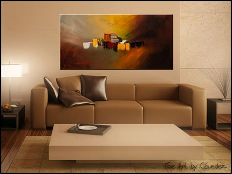 Modern Living Room Paintings : Contemporary Abstract Art